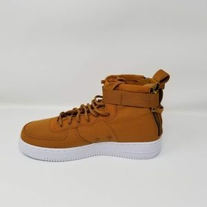 Details about Nike SF Air Force 1 Mid Big Kids' Shoes Desert Ochre Sequoia White AJ0424 700